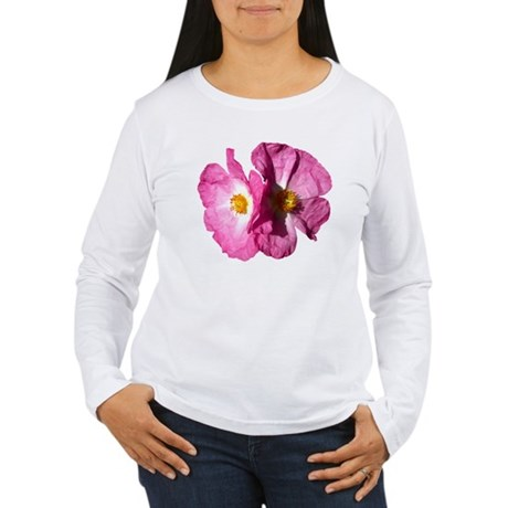 Two Pink Flowers Women's Long Sleeve T-Shirt