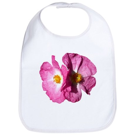 Two Pink Flowers Bib