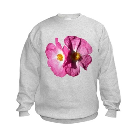Two Pink Flowers Kids Sweatshirt