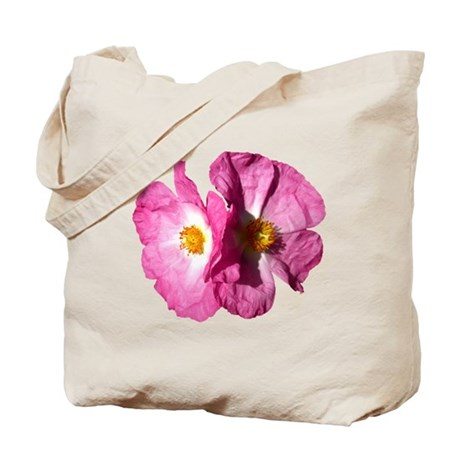 Two Pink Flowers Tote Bag