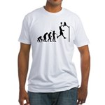 Basketball Evolution Fitted T-Shirt