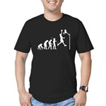 Basketball Evolution Men's Fitted T-Shirt (dark)