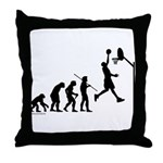 Basketball Evolution Throw Pillow