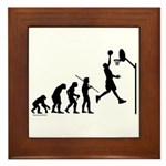 Basketball Evolution Framed Tile