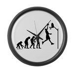 Basketball Evolution Large Wall Clock