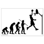 Basketball Evolution Large Poster