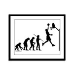 Basketball Evolution Framed Panel Print