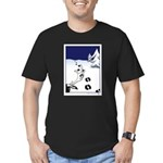 Tracks in the Snow Men's Fitted T-Shirt (dark)