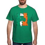 Irish White Shamrock Flag Dark T-Shirt