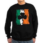 Irish White Shamrock Flag Sweatshirt (dark)