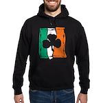 Irish White Shamrock Flag Hoodie (dark)