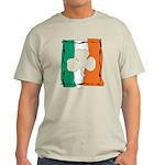 Irish White Shamrock Flag Light T-Shirt