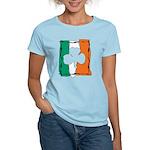 Irish White Shamrock Flag Women's Light T-Shirt