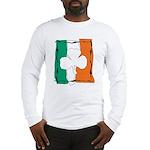 Irish White Shamrock Flag Long Sleeve T-Shirt