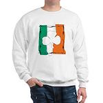 Irish White Shamrock Flag Sweatshirt