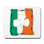 Irish White Shamrock Flag Mousepad
