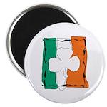 Irish White Shamrock Flag Magnet