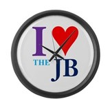 I Heart The JB Large Wall Clock
