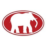Red Elephant Decal
