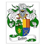 Tellez Coat of Arms Small Poster