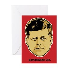 JFK Government Lies Greeting Card