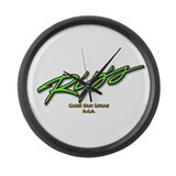 Rip's Bar Script Large Wall Clock