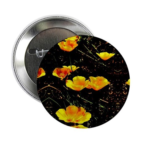 "Poppies in a Row 2.25"" Button"