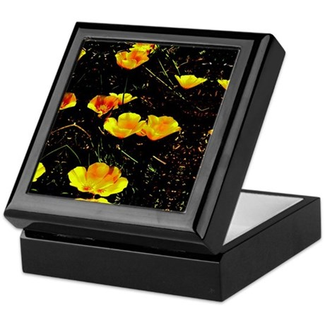 Poppies in a Row Keepsake Box