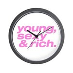 Pink Young Sexy Wall Clock