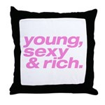 Pink Young Sexy Throw Pillow