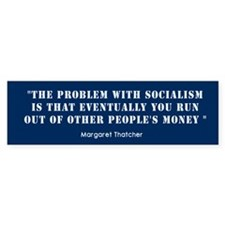 Anti Socialism Bumper Bumper Sticker