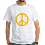 Yellow CND logo White T-Shirt