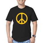 Yellow CND logo Men's Fitted T-Shirt (dark)