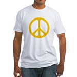 Yellow CND logo Fitted T-Shirt