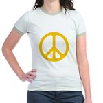 Yellow CND logo Jr. Ringer T-Shirt