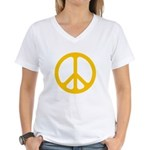 Yellow CND logo Women's V-Neck T-Shirt
