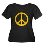 Yellow CND logo Women's Plus Size Scoop Neck Dark