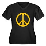 Yellow CND logo Women's Plus Size V-Neck Dark T-Sh