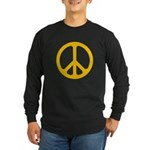 Yellow CND logo Long Sleeve Dark T-Shirt