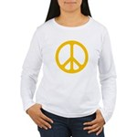 Yellow CND logo Women's Long Sleeve T-Shirt