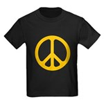 Yellow CND logo Kids Dark T-Shirt