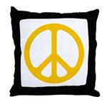 Yellow CND logo Throw Pillow