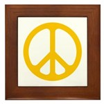 Yellow CND logo Framed Tile