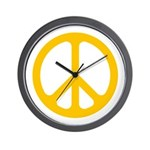 Yellow CND logo Wall Clock