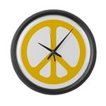 Yellow CND logo Large Wall Clock