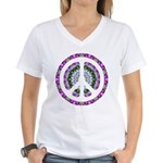 CND Floral3 Women's V-Neck T-Shirt