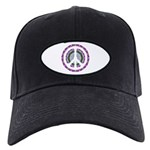 CND Floral3 Black Cap