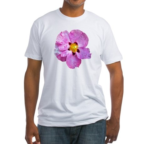 Spot Flower Fitted T-Shirt
