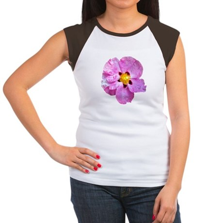 Spot Flower Women's Cap Sleeve T-Shirt