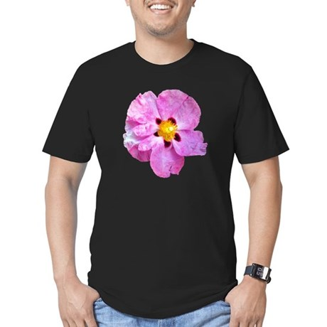 Spot Flower Men's Fitted T-Shirt (dark)